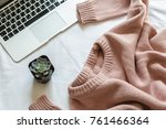 Pink Knitted Sweater  Laptop...