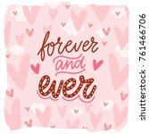 love lettering calligraphy text ... | Shutterstock .eps vector #761466706