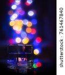 glass of liquor and bulbs... | Shutterstock . vector #761467840