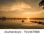 sunset over hanoi's ho tay ...   Shutterstock . vector #761467888