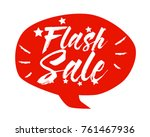 flash sale  beautiful greeting... | Shutterstock .eps vector #761467936