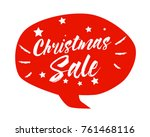 christmas sale  beautiful... | Shutterstock .eps vector #761468116