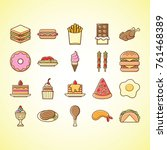 cute and funny fastfood icon   Shutterstock .eps vector #761468389