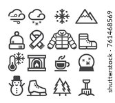 winter thick icons | Shutterstock .eps vector #761468569