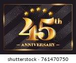 45 years anniversary... | Shutterstock .eps vector #761470750