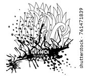 ink vector brush strokes....   Shutterstock .eps vector #761471839