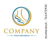 foot and ankle logo vector | Shutterstock .eps vector #761472934