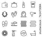 thin line icon set   wallet ... | Shutterstock .eps vector #761473084