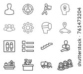 thin line icon set   man ... | Shutterstock .eps vector #761473204