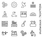thin line icon set   gear ... | Shutterstock .eps vector #761479204