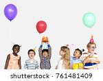 happiness group of cute and... | Shutterstock . vector #761481409