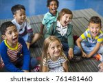 happy kids at elementary school | Shutterstock . vector #761481460
