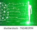 abstract background technology... | Shutterstock .eps vector #761481994