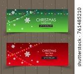 banner christmas sale . set of... | Shutterstock .eps vector #761485210