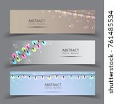 christmas banner background... | Shutterstock .eps vector #761485534