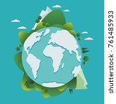 happy earth day vector... | Shutterstock .eps vector #761485933