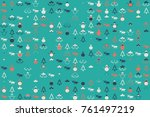 christmas pattern with... | Shutterstock .eps vector #761497219