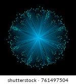binary circuit board future... | Shutterstock .eps vector #761497504