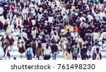 asian people are across the... | Shutterstock . vector #761498230