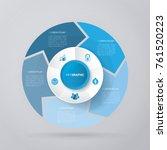 vector circle arrows for... | Shutterstock .eps vector #761520223
