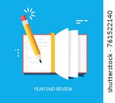 year end summary review vector... | Shutterstock .eps vector #761522140
