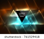color neon glowing triangles ... | Shutterstock .eps vector #761529418