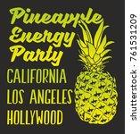 pineapple florida graphic...   Shutterstock .eps vector #761531209