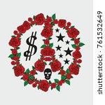 Red Rose Peace Graphic Design...