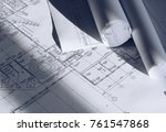 architectural drawing photo | Shutterstock . vector #761547868