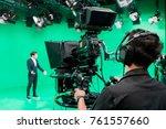 cameraman working with... | Shutterstock . vector #761557660