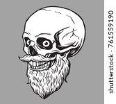 skull bearded hipster... | Shutterstock .eps vector #761559190