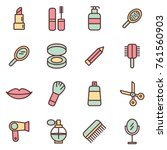 spa   beauty icons. beauty... | Shutterstock .eps vector #761560903