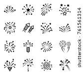 firework line icon. petard ... | Shutterstock .eps vector #761561314