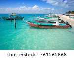 isla mujeres island caribbean... | Shutterstock . vector #761565868