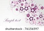 vector horizontal floral card   Shutterstock .eps vector #76156597