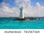 isla mujeres lighthouse el... | Shutterstock . vector #761567164