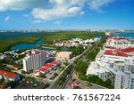 cancun aerial view of hotel... | Shutterstock . vector #761567224
