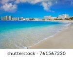 cancun forum beach playa... | Shutterstock . vector #761567230