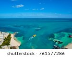 cancun aerial view of hotel...   Shutterstock . vector #761577286