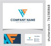 hf initial logo design | Shutterstock .eps vector #761580868