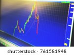 technical price chart and... | Shutterstock . vector #761581948