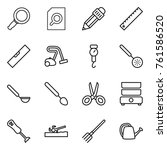 thin line icon set   magnifier  ... | Shutterstock .eps vector #761586520