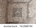 old mosaic  background from... | Shutterstock . vector #761588740