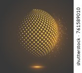 abstract globe dotted sphere ... | Shutterstock .eps vector #761589010