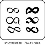 set of eternity signs | Shutterstock .eps vector #761597086