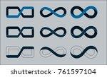 set of eternity signs | Shutterstock .eps vector #761597104