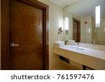 interior of a modern bathroom | Shutterstock . vector #761597476