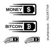 fast money bitcoin motion line... | Shutterstock .eps vector #761597749