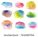 Set Of Hand Painted Watercolor...