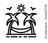 beach vector outline icon
